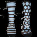 Lineas Puntos Chocolate-Azul
