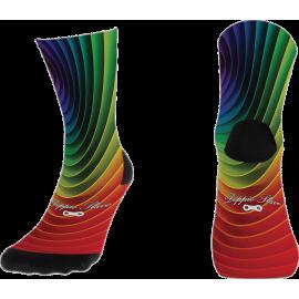 Gebogene Socken