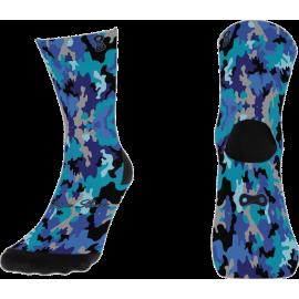 Blue Camouflage Sock