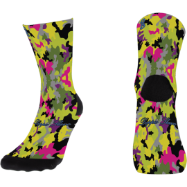 Pink Camouflage Sock