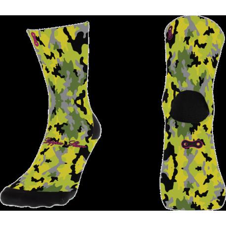 Fluorgelbe Tarnung Socken