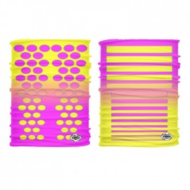 Tubular Dotted Lines Pink-Yellow