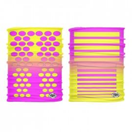 Röhrenförmige gepunktete Linien rosa-gelb