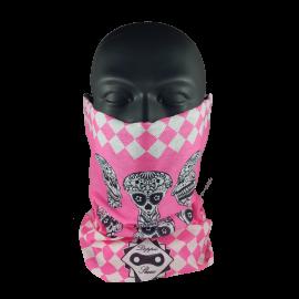 Tubular Diamond Pink Skull