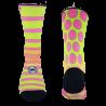 Linien und Punkte Socken